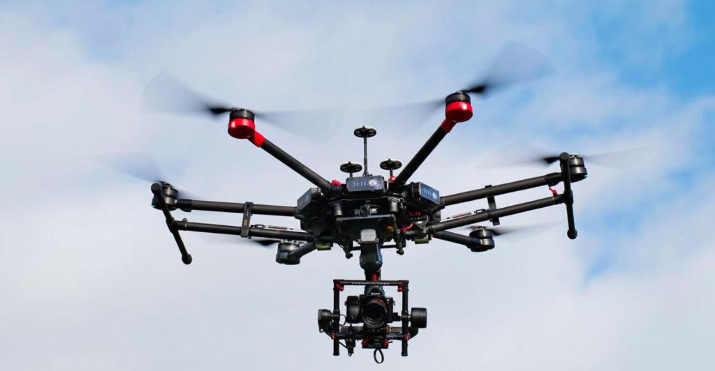 Prise d'image par drone